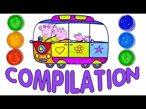 Peppa Pig Coloring Pages ⭐ Easy drawing for kids💙