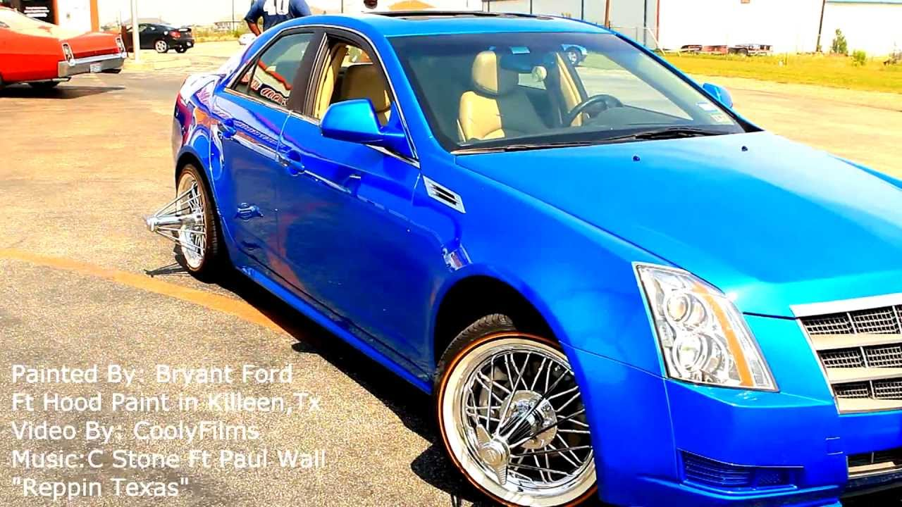 Oriental Blue Cadillac Painted By Bryant Ford At Fthood Paint Killeen Tx