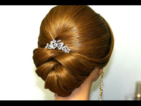 Wedding Hairstyle For Medium Long Hair Bridal Updo 3GP Mp4 HD