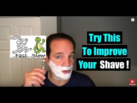 Shave Fast Or Slow... Which Is Better❓