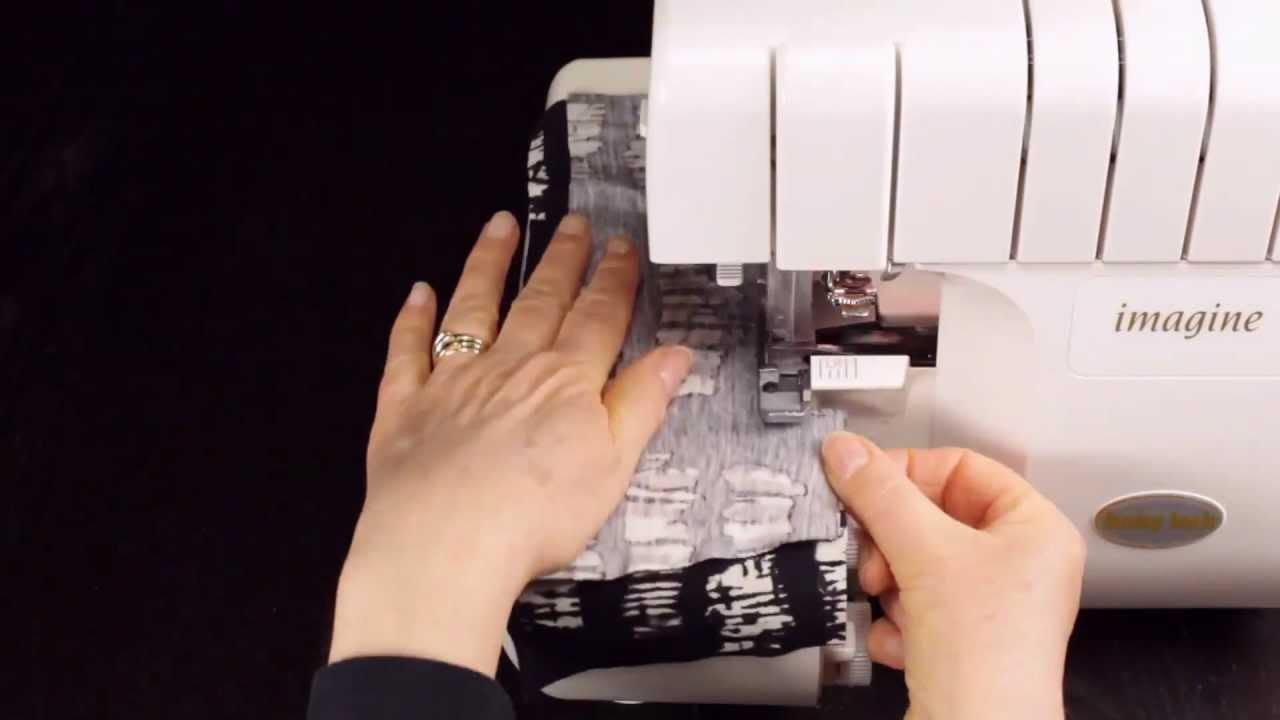 Как шить на оверлоке трикотаж видео