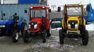 Трейлер. Трактора Джинма-264 с ходоуменьшителем, Донгфенг-244 с кабиной, Донгфенг-404 с кабиной