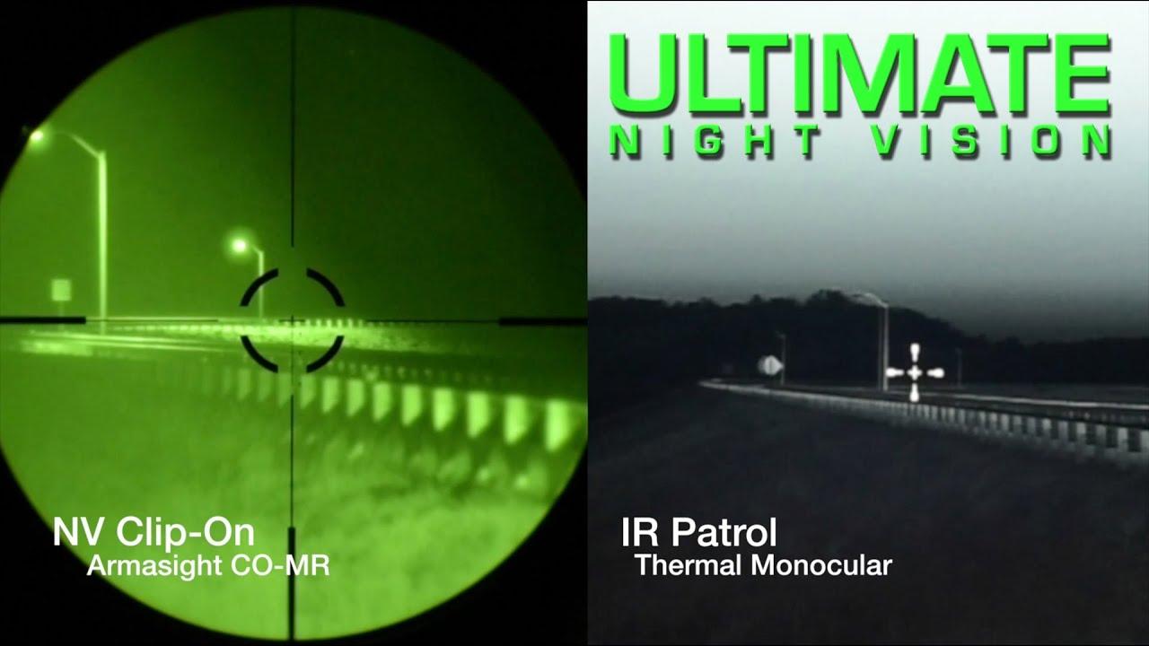 Night Vision And Thermal Comparison Ir Patrol Vs Green