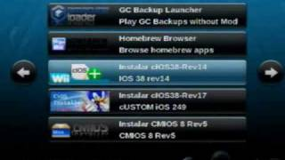 Repeat youtube video Homebrew Channel 1.0.7 e Wad Manager 1.7
