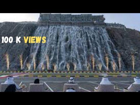The Largest Waterfall in UAE | Waterfall and Amphitheatre in Khorfakkan UAE