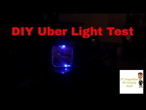Testing my new light for Uber