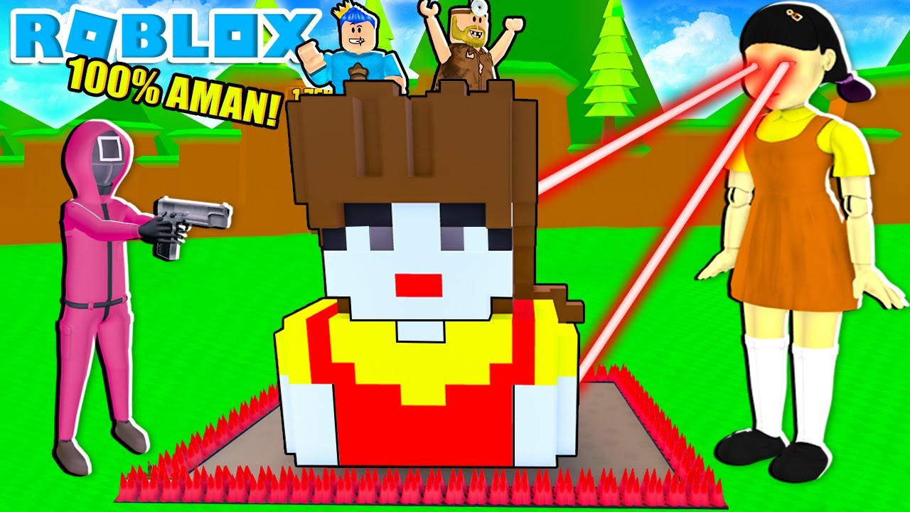Download RUMAH BONEKA SQUID GAME PALING AMAN UNTUK LAWAN BONEKA SQUID GAME DI ROBLOX!!