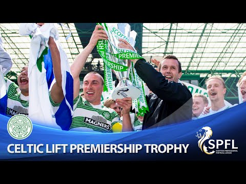Champions of Scotland - Celtic lift Premiership trophy