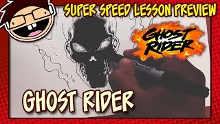 Lesson Preview: How to Draw GHOST RIDER (Comic Version)