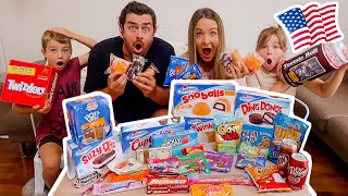 New Zealand Family Tries American Snack Foods!!