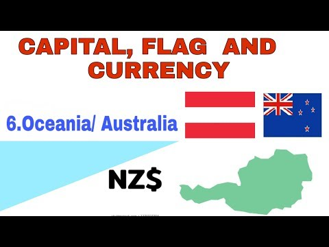 Australia/ Oceania Contents/flag, Country, Capital, Currency Symbol/#talkatopic