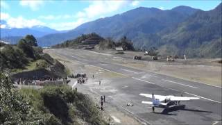 Flying in Papua - C208B PK-LTF departing WAYB Bilorai Runway 27 HD