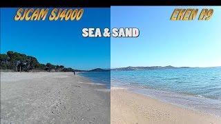 sj4000 vs Eken H9 side by side: sea, sand and forest