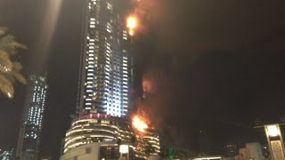 Dubai skyscraper catches on fire