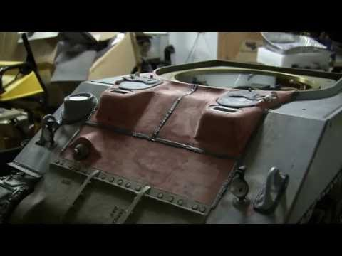 1/6th scale RC Armortek M4A4 sherman tank project video #10 (bow hatch and upper deck)