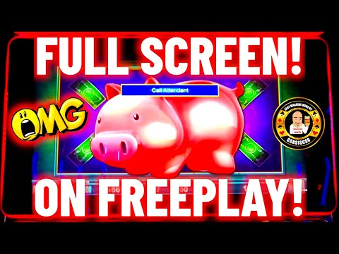 😬FULLSCREEN ON FREEPLAY😬 AND 🤩THIS HAPPENED🤩 🐷Piggy Bankin🐷 🤑Epic Winning Session🤑