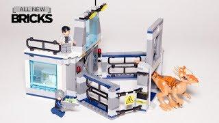 Lego Jurassic World Stygimoloch Breakout Lego Speed Build 75927