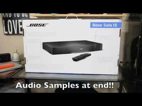 BOSE SOLO 15 Tv Sound System Unboxing w/  Sound Demo