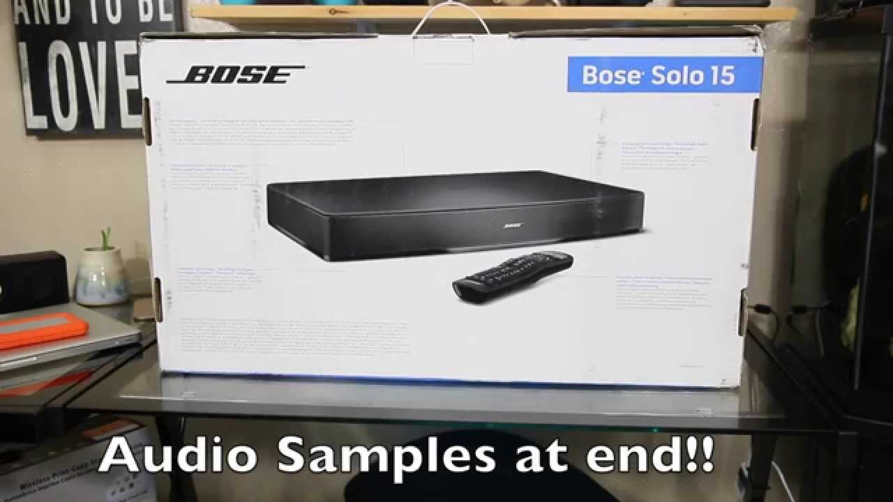 bose solo 15 tv sound system unboxing w sound demo youtube. Black Bedroom Furniture Sets. Home Design Ideas
