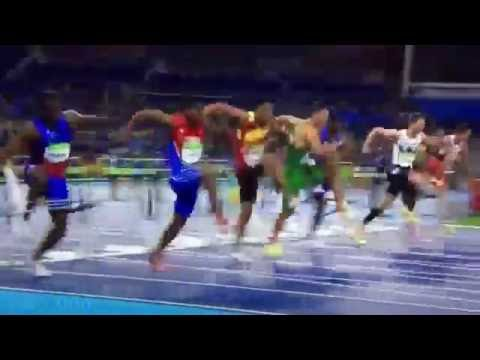 Haiti Runner Crashes Into Hurdle Rio olympics 2016