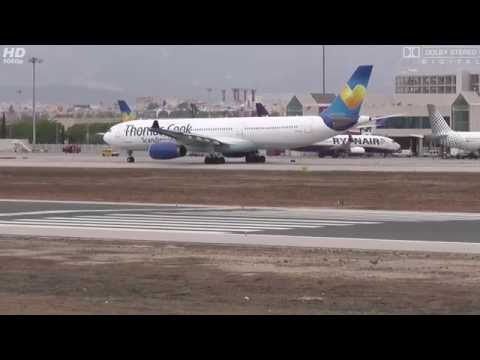 OY-VKG Thomas Cook Scandinavia Airbus A333 TAXI AND LINE UP with LIVE ATC at PMI [FULL HD]