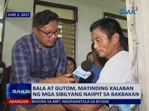 Saksi: Bala at gutom, matinding kalaban ng mga sibilyang naiipit sa bakbakan