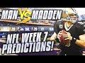 NFL Week 7 Game Picks... DO YOU AGREE???   Man vs Madden 2018