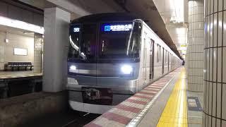 東京メトロ日比谷線  東京メトロ13000系 13037F 7両編成  TS-30 東武動物公園 行  恵比寿駅 2番線を発車
