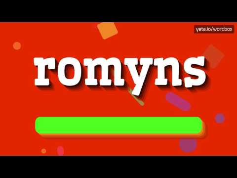 ROMYNS - HOW TO PRONOUNCE IT!?