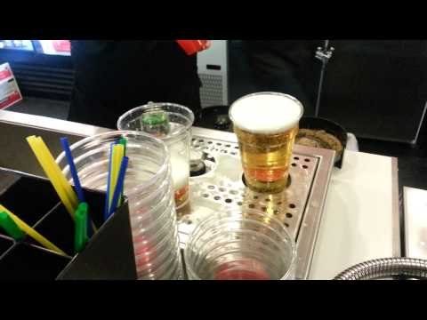 Budweiser Beer filled from bottom at Calgary Scotiabank Saddledome