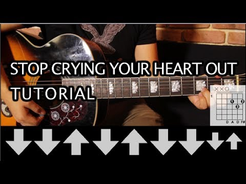 Oasis Stop Crying Your Heart Out Tutorial Guitarra Guitar