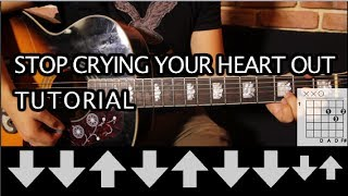 Oasis - Stop Crying Your Heart Out Tutorial Guitarra // Guitar Lesson HD