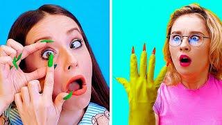 المشاكل التي تواجهها الفتيات بسبب الأظافر الطويلة || مشاكل وإخفاقات الفتيات الطريفة
