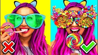 WOW! DIY Awesome Candy Sunglasses Ever! So Funny! Fully Edible! (CC Available)