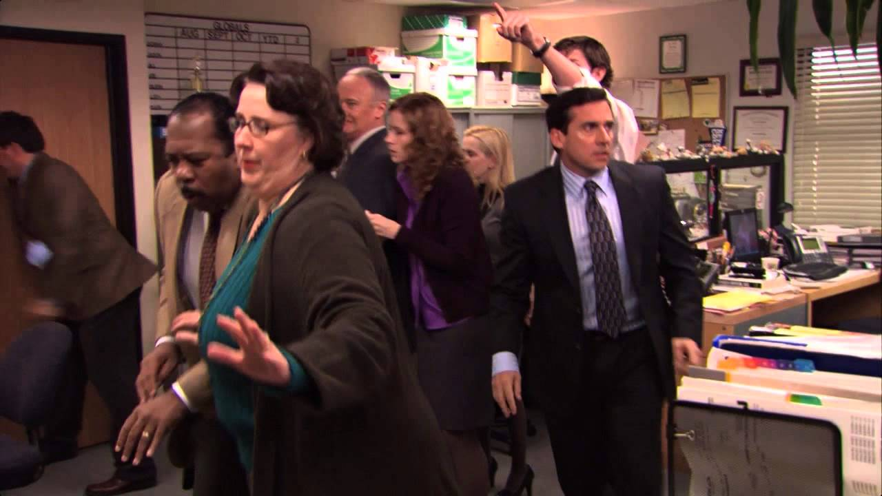 Dwight Schrute S Office Fire Drill Tested For Osha Safety