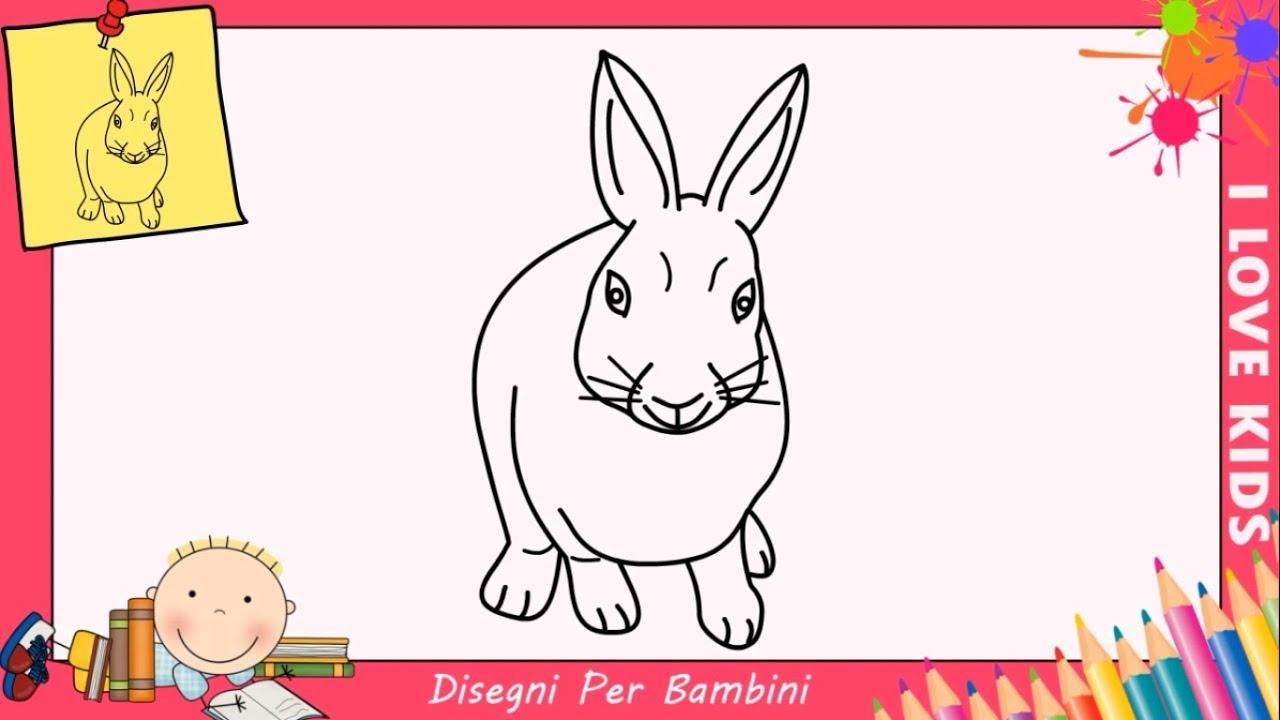 Amato Disegni di coniglietti FACILI per bambini | Come disegnare un  OE36