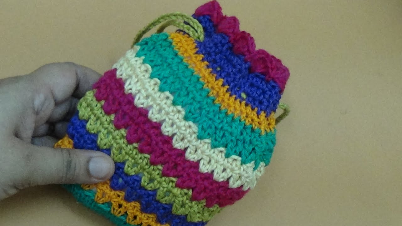 CROCHET MINI POUCH BAG-1 - YouTube