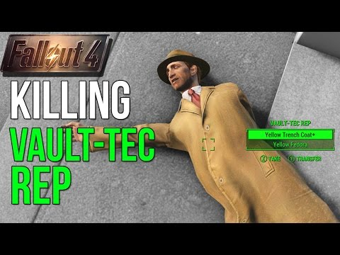 Fallout 4: What Happens if you Kill the Vault-Tec Rep Pre-War?