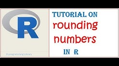 Rounding decimal numbers in R    How to round numbers in R ??