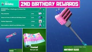 All *FREE* Fortnite 2nd Birthday Rewards! - 2nd Birthday Challenges Season 9