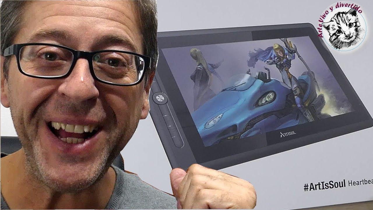 Tableta con Pantalla de Dibujo Artisul D16 Pro Review y demostración en español para humanos!