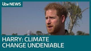 Prins Harry spreekt gepassioneerd over klimaatsverandering in Botswana