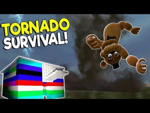 F-5 TORNADO SURVIVAL VS LEGO BASE CHALLENGE! - Garry's Mod Gameplay - Gmod Tornado Base Building