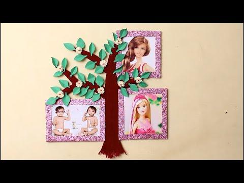 DIY Tree photo Frame For Family || Room Decoration Idea