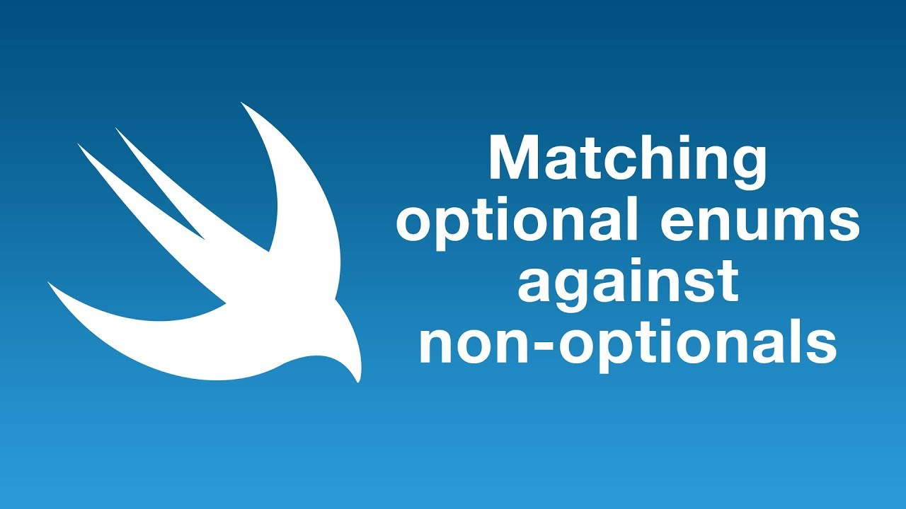 Matching optional enums against non-optionals in Swift 5.1