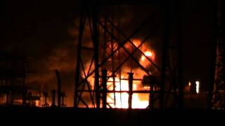 132 KV SUB STATION AT GHORAPIR, MALDA FIRE ON