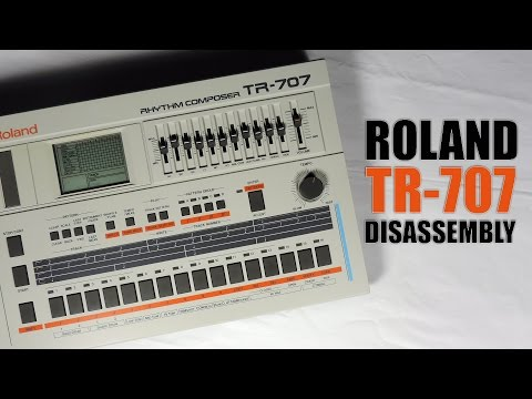 Roland TR-707 démontage / disassembly : Tuto FR