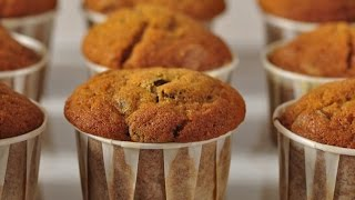 Pumpkin Chocolate Chip Muffins Recipe Demonstration - Joyofbaking.com