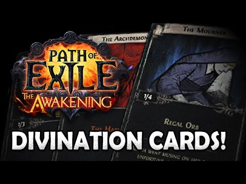 path of exile divination cards announced new method of farming