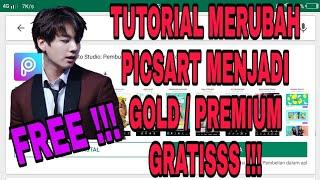 Gambar cover Cara merubah PicsArt menjadi PicsArt Gold atau Premium terbaru GRATIS !!! 2019 Edit Video PicsArt